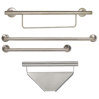 Contractor Series Satin Grab Bar Package